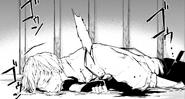 Atsushi bleeding after Rashomon's attack (manga)
