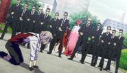 Atsushi surrounded by Koyo's men