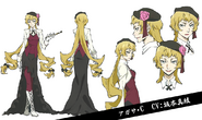 Agatha Christie Anime Character Design