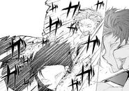 Atsushi lands his final punch on Akutagawa (manga)