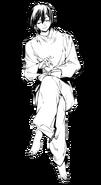 Fyodor wearing prison clothes (manga)