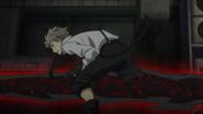 Atsushi's leg cut off by Rashomon