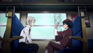 Atsushi and Ranpo on the way to the murder scene