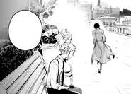 Dazai advises Atsushi after the orphanage director's death (manga)