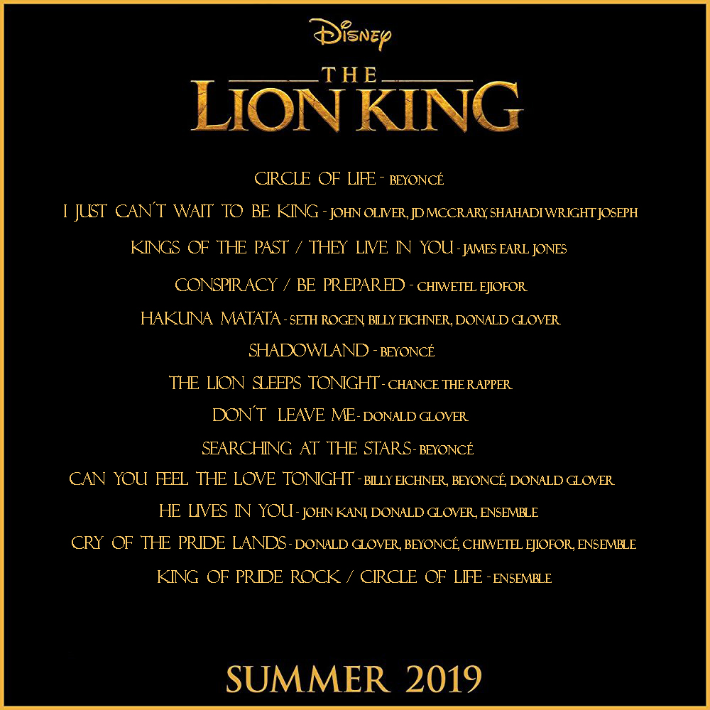 Will there be more songs for The Lion King 2019?