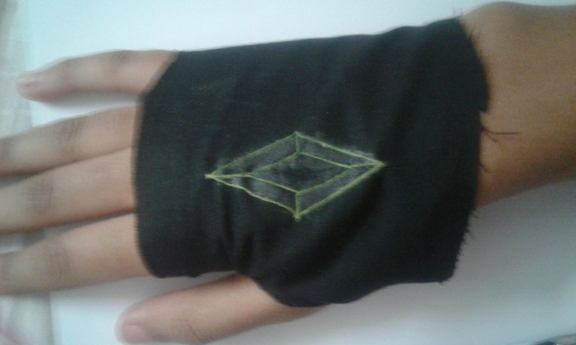 Hand sewn glove.