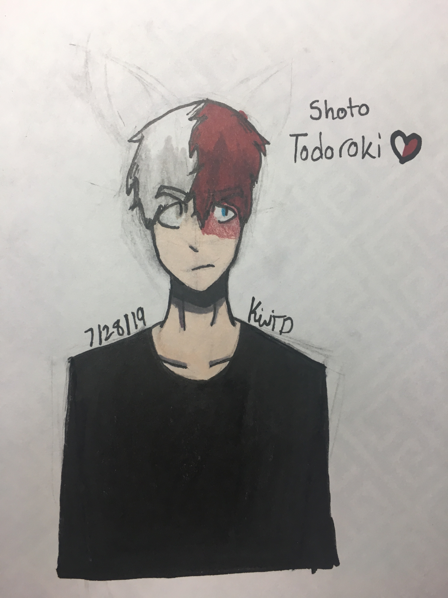 Shoto Todoroki Traditional Drawing Fandom