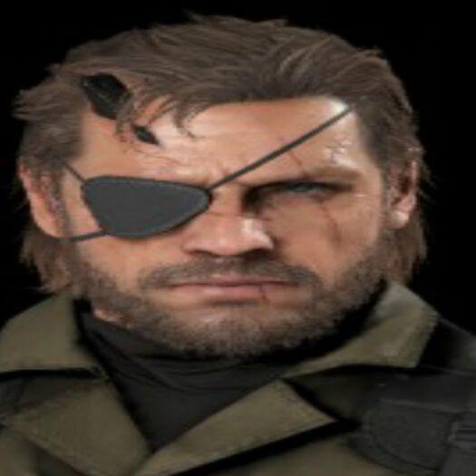 Every time Venom Snake talks in Metal Gear Solid V
