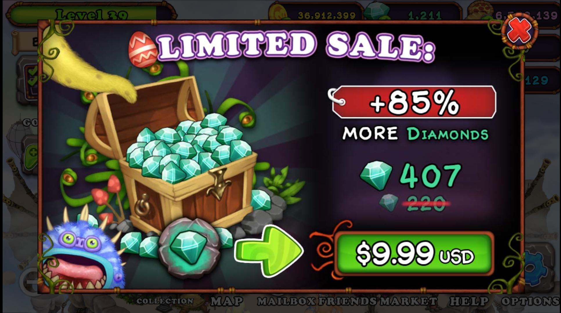 9.99 Diamond Sale Promotion