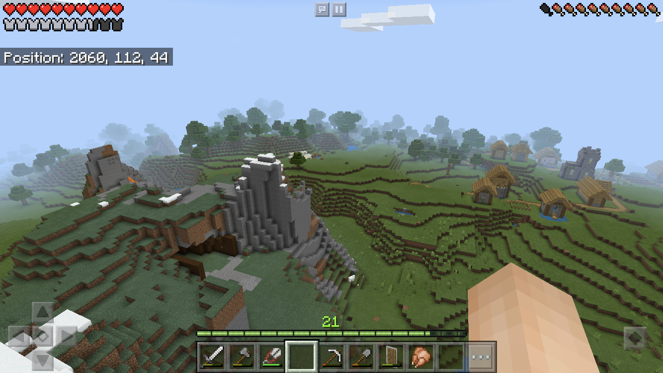 I found a seed for MCPE there is a village next to spawn and a mineshaft under it  Seed-1295928667