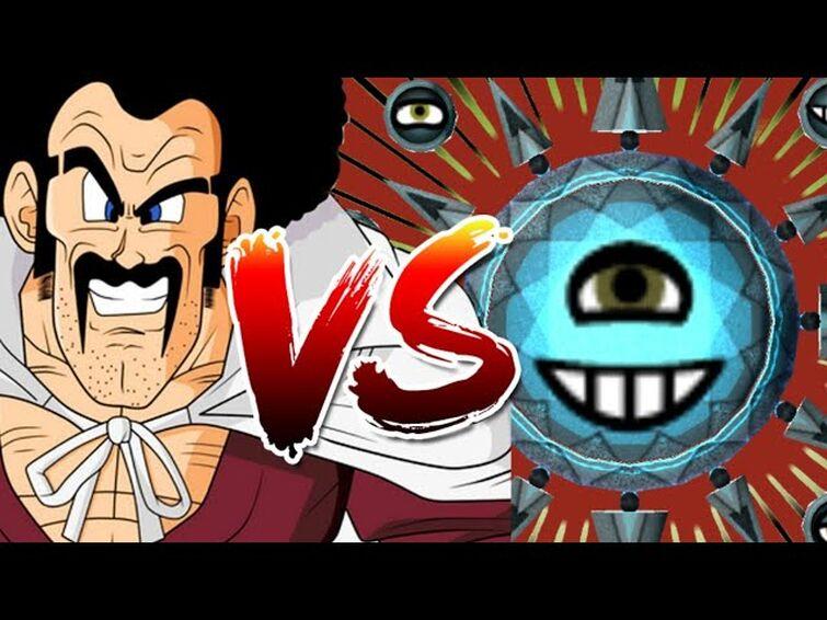 Mr. Satan vs the Dark Sun in Miitopia