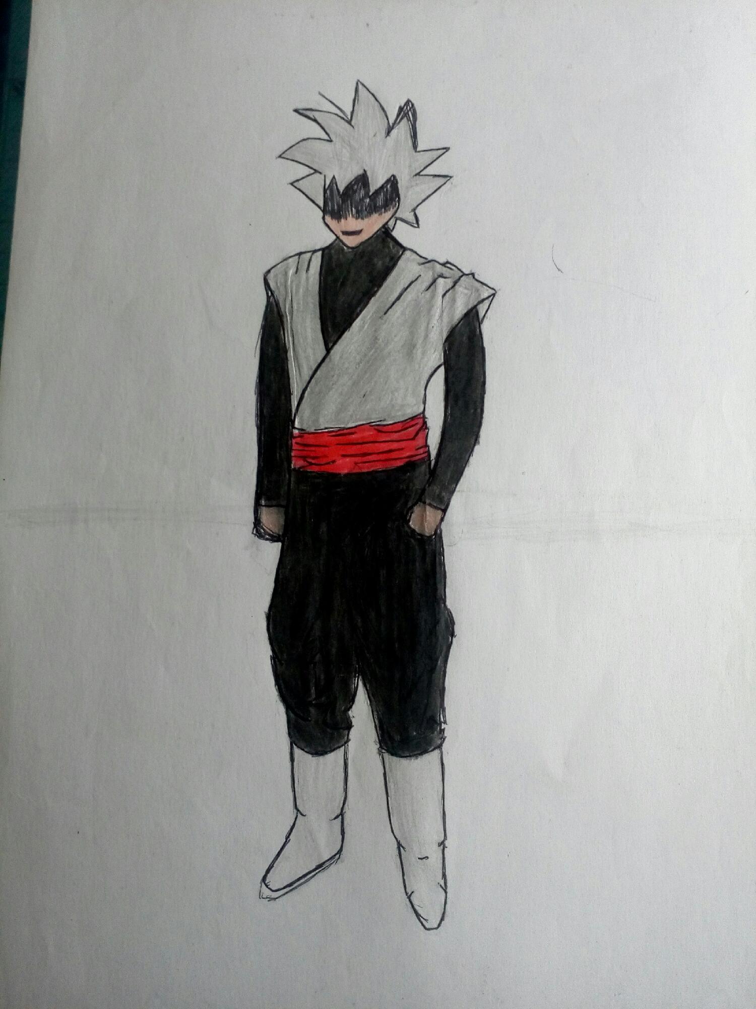Goku Black com a cara bulgada