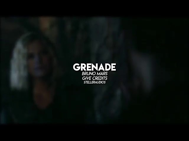 Grenade - Bruno Mars (edit audio)