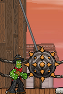 Swinging Spiked Ball