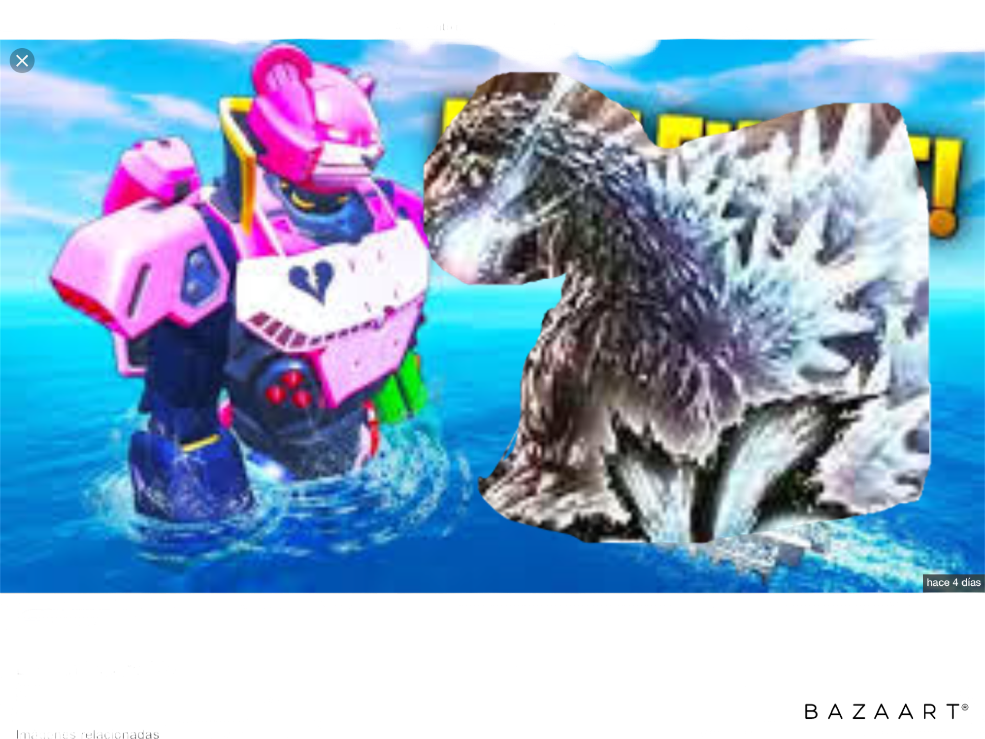 Esto hubiera pasado o si Fortnite hubiera hecho un trato con Godzilla
