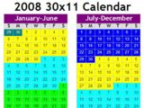 30x11 Calendar