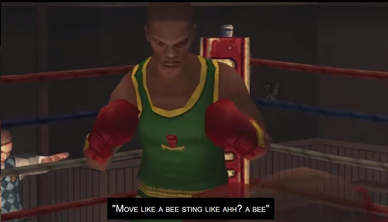 Move like a bee, sting like uh... Bee!