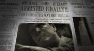 Finn newspaper article BOII