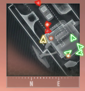 Sensor grenade in action radar effect