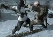 German and Russian Fist Fight