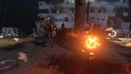 Stoker throws coal