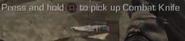 Combat Knife pickup icon CoDG
