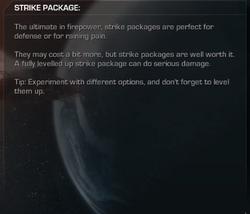 Strike Packages menu Extinction CoDG.png