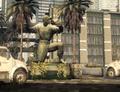 Strikezone statue before K.E.M. Strike CODG