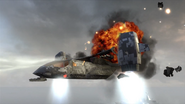 VTOL Warship being destroyed BOII