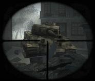 Tiger scope in The Rhine CoD WaW FF