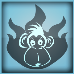 Grillowana małpa