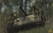 M4 Sherman soldiers riding WaW