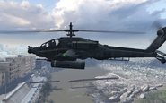 AH-64 Apache side view Team Player MW2