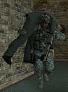 Sgt. Foley carrying Raptor