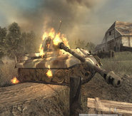 Destroyed Tiger II WaW