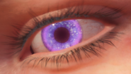 Close up of Samantha's Aether corrupted eye BOCW