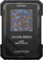 Cold Blooded Camo Supply Drop Card MWR