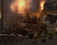 Destroyed Tiger active CoD2 BRO