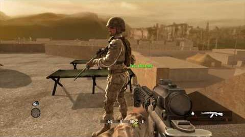Call of Duty 4 Modern Warfare Pre-Alpha Build Canceled Map - Training Xbox 360
