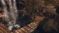 Temple wodospad most