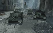 Destroyed Abrams tanks MW3