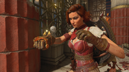 Scarlett Rhodes with the Hand of Hemera Ancient Evil BO4