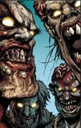 Zombies in the comic series