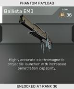 Ballista EM3 Unlock Card IW