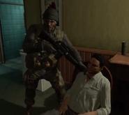 Mason holding Noriega at gunpoint BOII