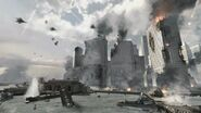 Battle for NY lower manhattan shot Hunter Killer MW3