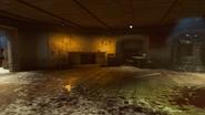 Gniew starozytnych ogien kominek pomieszczenie z zaopatrzeniem