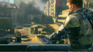 Player interfacing datapad to activate the spike launcher explosives in Rise and Fall BO3