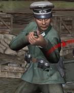 German officer Normandy CoD2