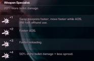 Weapon Specialist Challenges CoDG